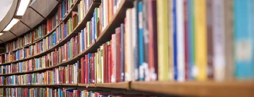 Library full of books on a shelf